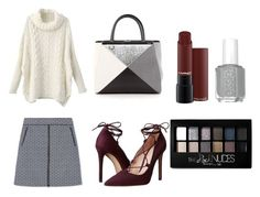 Fall Combo - Chunky Knits and A-line skirts by slizausaba on Polyvore featuring Tory Burch, Massimo Matteo, Fendi and Maybelline