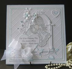 pamscrafts: Two Christening Cards from Godparents..