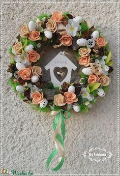 Házikó a barackfán tavaszi ajtódísz (fabkata) - Meska.hu Floral Wreath, Wreaths, Home Decor, Floral Crown, Decoration Home, Door Wreaths, Room Decor, Deco Mesh Wreaths, Home Interior Design