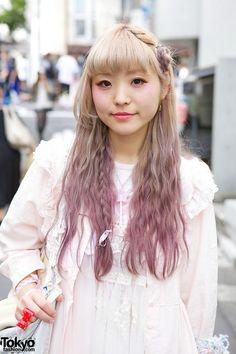 Kawaii cult party kei, cute lilac hair