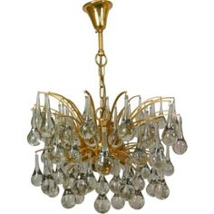 Check out this item at One Kings Lane! Glass Teardrop Chandelier