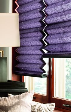 Add color and texture with 2 inch pleated shades.