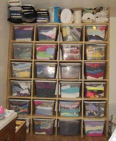 Make a Craft Storage Center