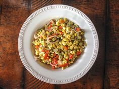 Corn, Roasted Red Pepper and Cilantro Salad
