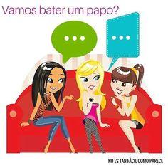 Bate-papo o bater um papo sería equivalente a charlar, conversar,ponernos al día y chatear, de una manera informal, por ejemplo en un bar, en casa con los amigos... Agora você já sabe, se alguém te convidar para bater um papo ou te dizer que o papo estava muito animado, é coisa boa!!! #falar #portugués #palabrasenportugués #clasesdeportugués www.noestanfacil.wix.com/brasilpt