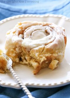 Soft Cinnamon Rolls - no-fail cinnamon rolls that are so soft and covered with cream cheese frosting. the-girl-who-ate-everything.com