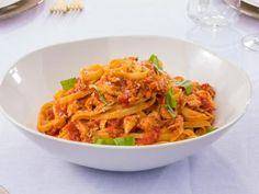Crab and Cherry Tomato Fettuccini Recipe | Giada De Laurentiis | Food Network