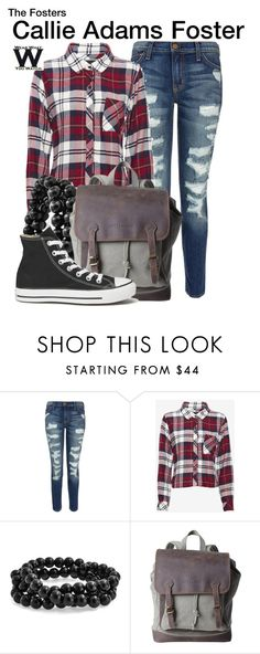 """The Fosters"" by wearwhatyouwatch ❤ liked on Polyvore featuring Current/Elliott, Rails, Bling Jewelry, Converse, television and wearwhatyouwatch"