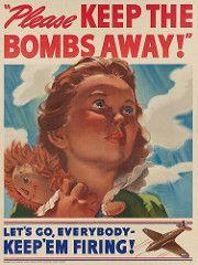 1942 'Please Keep The Bombs Away!' Let's Go, Everybody - Keep 'Em Firing! (Keijo K. Knutas) Tags: 1942 usa unitedstates ww2 wwii worldwarii secondworldwar propaganda poster