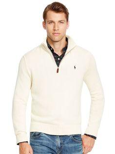 Polo Ralph Lauren Pull demi-zippé en coton - Polo Ralph Lauren Cardigans -  Ralph a9a3c4e251f7