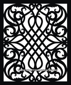 Scroll saw vector pattern