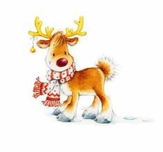 Would love to see Sugar Nellie turn this reindeer into a stamp