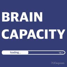 'Brain Capacity - loading' T-Shirt von Funny Tshirts, Brain, Slim, Fitness, T Shirt, Laptop Tote, The Brain, Supreme T Shirt, Tee Shirt