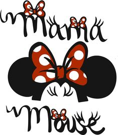'Mama Mouse Shirt' Sticker by JaymeJahns Minnie Mouse Cricut Ideas, Mickey Minnie Mouse, Mickey Mouse Christmas, Mickey Mouse And Friends, Adult Disney Costumes, Disney Applique, Disney Bachelorette, Disney Silhouettes, Disney Images