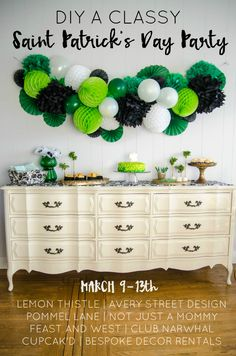 DIY your way to a classy Saint Patrick\'s Day Party!