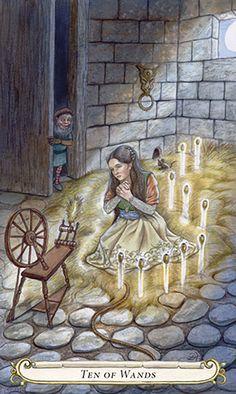 10 de bâtons - Le Conte de Fées de Tarot par Lisa Hunt