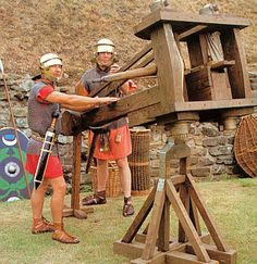 Ballista manned by soldiers of the Ermine Street Guard