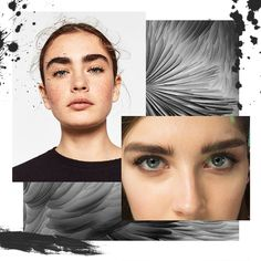 Bold Eyebrows Moodboard - Make Up Trends SS18