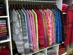 Oleana sweaters. Can I have all of them please?