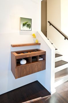 Entryway - in place of the ikea unit? Moraga Residence - modern - entry - other metro - Jennifer Weiss Architecture Floating Cabinets, Floating Shelves, Floating Table, Design Case, Shelf Design, Cabinet Design, Home Design, Interior Design, Design Ideas