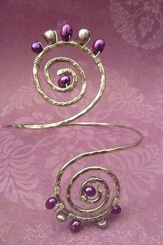 Wire Wrapped Greecian Swirl Upper Arm Cuff by beadifulexpressions, $28.00