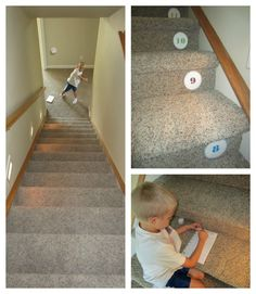 So fun! Stairway subtraction. {Relentlessly Fun, Deceptively Educational}