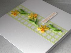 Easter card quilling flowers handmade by PaperDaisyCardDesign, £6.00