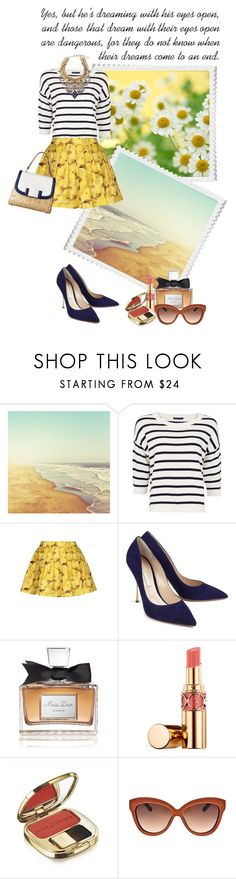 """""""HERE COMES THE SUMMER SUN"""" by paint-it-black ❤ liked on Polyvore featuring MANGO, Alice + Olivia, DANNIJO, Nicholas Kirkwood, Christian Dior, Yves Saint Laurent, Dolce&Gabbana and Linda Farrow"""