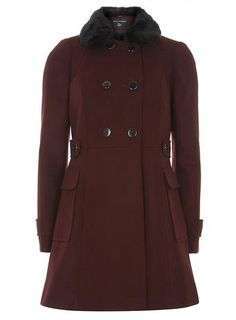 Port Fit And Flare Coat