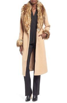 Missguided Faux Fur Trim Wrap Coat, $154 | 27 Amazing Faux Fur Coats That'll Keep You Warm This Winter