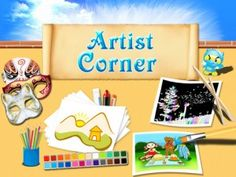 Artist Corner - The iPad application is like having an entire craft closet in the palms of your hands. This app has a slick interface that's incredibly intuitive for both children and parents alike to navigate. Your children can color-in ready-made illustrations, create their own drawings, fashion together a mask, and even make their own scratch drawing. Artist Corner is a phenomenal way to keep your children entertained, and to encourage them to express that inner Picasso.