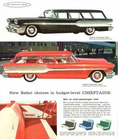 Pontiac SAFARI wagon - comfortably seats 9 ( NINE ) people and with the available optional full roof rack - could haul lots and lots and lots of luggage too! It was just one small step away from being a BUS!