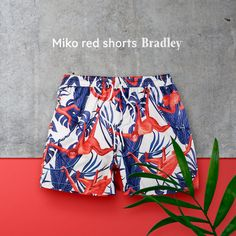Mike red swimshorts from Bradley Luxury Brand Red Shorts, Sport Shorts, Swim Shorts, Alternate Angles, Luxury Swimwear, Men Store, Clothing Photography, Boxers, Beachwear