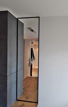 Drzwi Loftowe - Industrialne | Drzwi wewnętrzne - zabudowy szklane - drzwi loft - podłogi Mirror Door, Diy Home Crafts, Divider, Loft, Doors, Inspiration, Furniture, Nice, Home Decor
