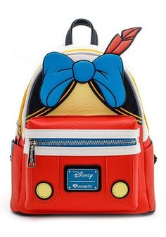 Show your love of Pinocchio with this Loungefly Disney Pinocchio Faux Leather Mini Backpack! This mini backpack is designed to look like Pinocchio's outfit! Disney Handbags, Disney Purse, Cute Handbags, Handbags On Sale, Purses And Handbags, Mini Mochila, Cute Mini Backpacks, Faux Leather Backpack, Leather Backpacks