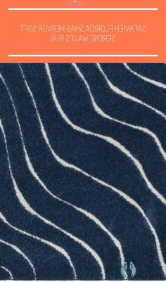 Shop Safavieh Florida Shag Hervor Soft Serene Waves Rug - On Sale - Free Shipping On Orders Over $45 - Overstock - 14194460 - 6' x 9' - Dark Blue/Cream #shag carpet stairs Overstock.com: Online Shopping - Bedding, Furniture, Electronics, Jewelry, Clothing & more<br>