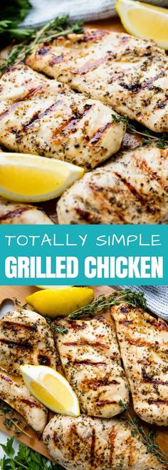 This Simple Grilled Chicken Recipe has a lemon, garlic, and herb marinade that makes for the absolute best grilled chicken. You'll make this recipe again and again!