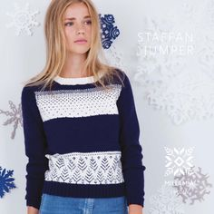 Staffan Jumper - free for 5 days Jumper Knitting Pattern, Knitting Patterns Free, Knit Patterns, Free Knitting, Knit Stranded, Cross Stitch Supplies, Knitting Supplies, Christmas Jumpers, Crochet Yarn