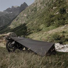 Motorcove shared this article with you from Inoreader Motorcycle Bivouac Via werd.com Handmade in Switzerland, the Motorcycle Bivouac is a minimalist camp shelter that uses your parked bike for one…