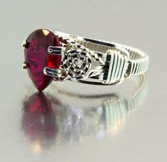 Ladies Ruby Ring in Argentium Sterling Silver also by jerrybeeman, $70.00