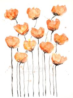 Learning How to Paint Watercolor Poppies, My Way – Part 4