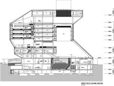 Rem Koolhaas, Architecture Board, Classical Architecture, Architectural Section, Architectural Sketches, Architectural Photography, Plano Hotel, Seattle Central Library, Interior Design Sketches