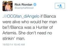 annabethchasy:  and for a change rick riordan tweets something actually relevant