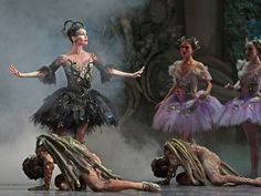 """Amy Fote and artists of the Houston Ballet in """"The Sleeping Beauty,"""" choreographed by Ben Stevenson Photo by Amitava Sarkar"""