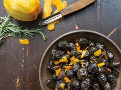 Fabrizia Lanza shared her recipe for dry-cured black olives, flavored with orange and rosemary. Italian Side Dishes, Pasta Side Dishes, Food Dishes, Olive Recipes, Green Bean Recipes, Orange Recipes, Italian Recipes, Italian Meals, Citrus Recipes