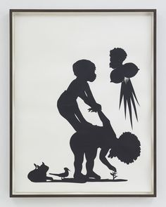 Kara Walker. The Fable About Nature, Power and Change, 2016. Sikkema Jenkins & Co. African American contemporary artist and painter who explores race, gender, sexuality, violence and identity in her work. She is best known for her room-size tableaux of black cut-paper silhouettes.