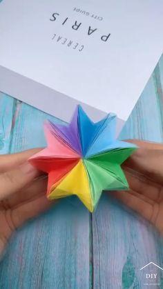Diy Crafts To Do, Glue Crafts, Diy Arts And Crafts, Creative Crafts, Easy Crafts, Crafts For Kids, Paper Crafts Origami, Oragami, Origami Art
