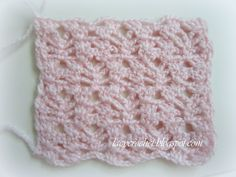 Lacy Crochet: Pretty Lacy Stitch for a Baby Blanket  tutorial pattern
