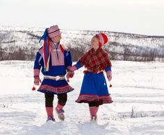 I went to Kautokeino to celebrate the confirmation of a young friend. Here she is with her very proud father, dressed in her new outfit.