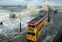 Oh we did like to be beside the seaside! The pictures which show the heyday of Blackpool as THE British holiday resort Blackpool Promenade, Blackpool England, British Holidays, Famous Pictures, Retro Pictures, Seaside Holidays, Stormy Sea, Seaside Resort, Holiday Resort